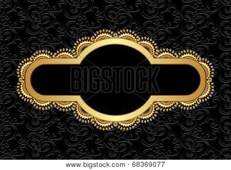 Figured Golden Frame With Wavy Pattern