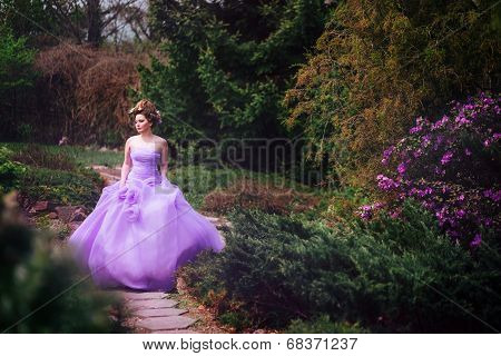 Woman in pink gown