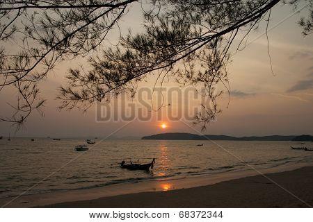 Sun set at Ao Nang Krabi