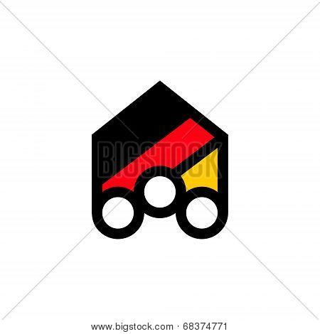 People of Germany abstract sign