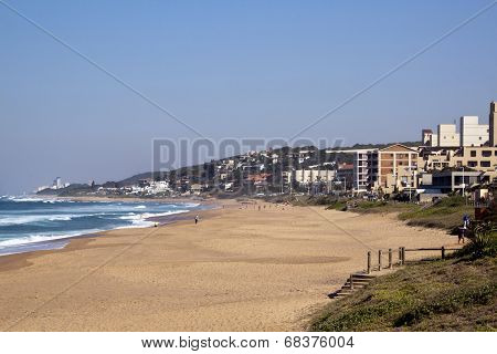 Holiday Makers At Umdloti Beach, Durban South Africa