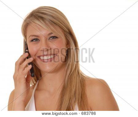 Lovely Girl On Cell Phone