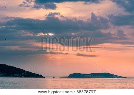 Marmara Sea Over Sunset