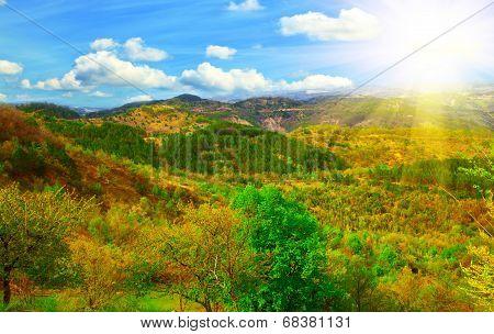 Photo Of The Istrian Part Of The Landscape. Adriatic Coast. Croatia