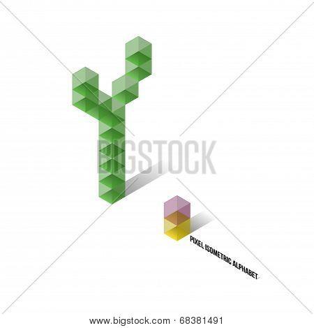 Y - Pixel Isometric Alphabet