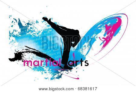 Martial arts, vector illustartion