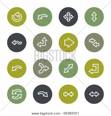 Arrows web icons set, color buttons
