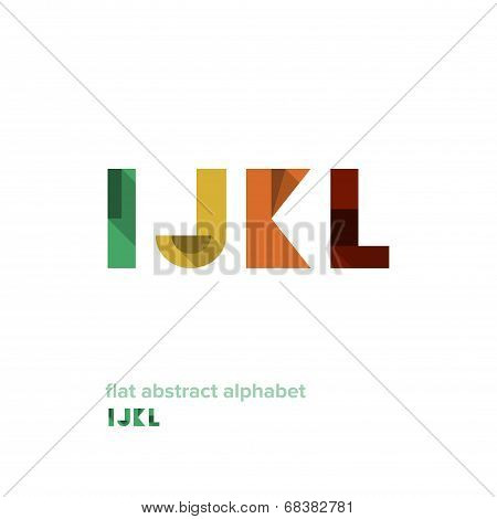 Modern Simple Abstract Colorful Alphabet