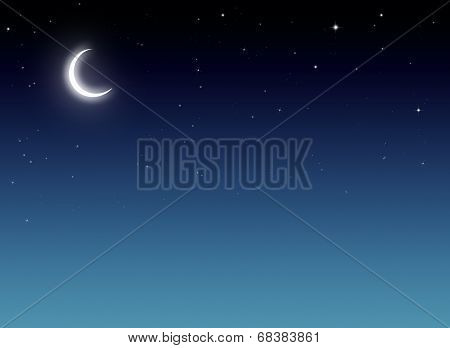 blue background, Nightly sky