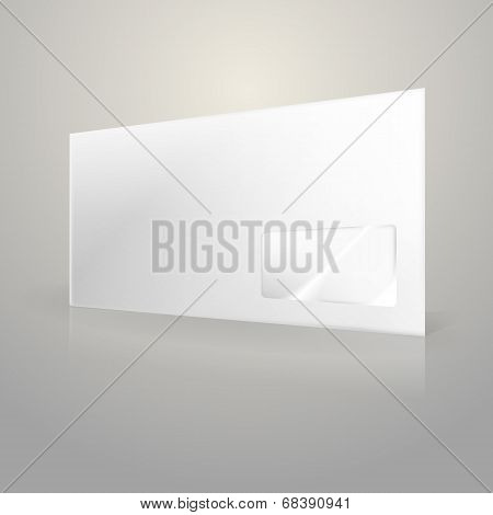 Illustration of white envelope