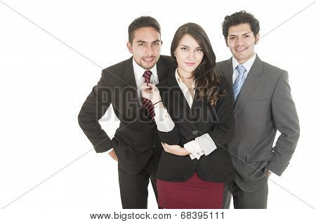 young business people wearing suits