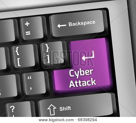 Keyboard Illustration Cyber Attack