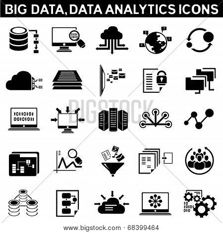 big data icons, data analytic icons