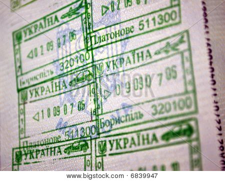 Passports Entry Stamps To Ukraine