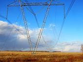 picture of steppes  - Electric full tilts pass on steppe on greater distances - JPG