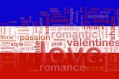 Flag Of Serbia And Montenegro Love poster