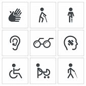 picture of morbid  - Disability icon collection on a white background - JPG