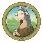 stock photo of mona lisa  - Goat  - JPG