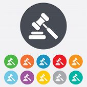 image of symbol justice  - Auction hammer icon - JPG