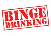 pic of bing  - BINGE DRINKING red Rubber Stamp over a white background - JPG