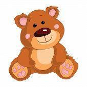 foto of bear cub  - Teddy bear on a white background - JPG