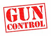 pic of dangerous situation  - GUN CONTROL red Rubber Stamp over a white background - JPG