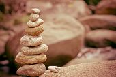 stock photo of zen  - Balance meditation - JPG