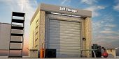 picture of self-storage  - modern self storage with used stuff outside - JPG