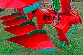 pic of cultivator-harrow  - Equipment for agriculture presented to an agricultural exhibition - JPG