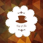 picture of teapot  - set of icons with cups - JPG