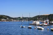 stock photo of dartmouth  - Dartmouth by the River Dart in Devon - JPG