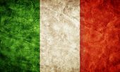image of italian flag  - Italy grunge flag - JPG