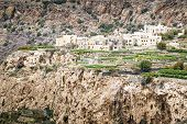 stock photo of jabal  - Image of landscape Saiq Plateau in Oman - JPG