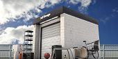 pic of self-storage  - illustration of a self storage with used stuff outside - JPG