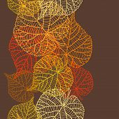 image of fall decorations  - Seamless vector pattern with stylized autumn leaves - JPG