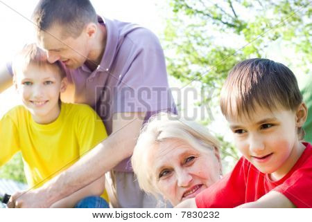 Happy Parents And Children Together