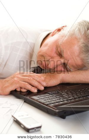 Man Sleeping With Laptop