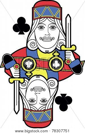 Stylized King of Clubs without card version
