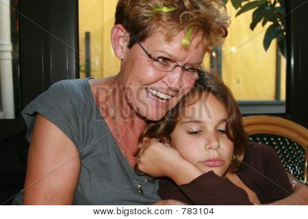 sleepy grandchild