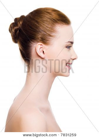 Smiling Woman Face With Clear Skin