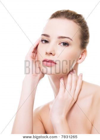 Beautiful Clean Woman Face