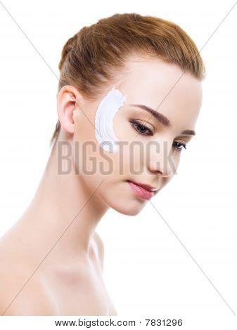 Moisturizer Cosmetic Cream On Face