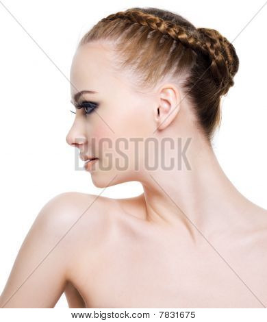 Beautiful Woman With Fashion Coiffure