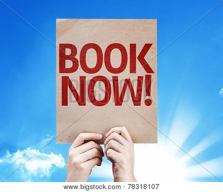 Book Now card with beautiful day