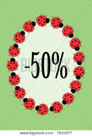 vector ladybirds frame