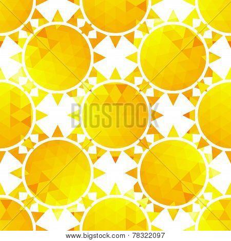 Stylish sunlight seamless pattern on a background .