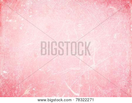 Bright Grunge  Abstract  Background Or Textured Backdrop With Spotlight And Scratches White And Pink