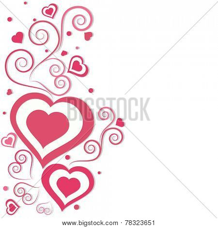 Floral and pink hearts decorated beautiful greeting card design with space for your message for Valentine's Day and other occasion celebration.