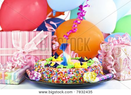 Birthday Cake For 1 Year Old Celebration/