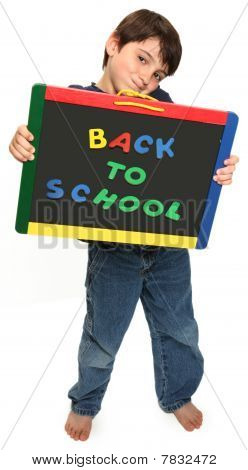 Happy Boy With Back To School